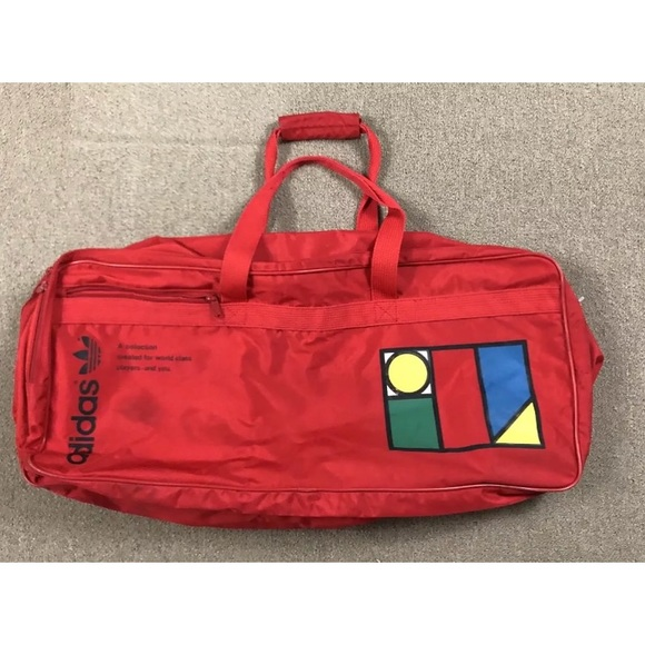 3ac08405be63 Adidas Handbags - Red Adidas Tennis Travel Duffle Bag Trefoil